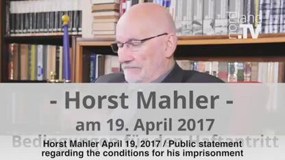 Horst Mahler has fled Germany now seeking political asylum, April 19, 2017 (English subtitles)