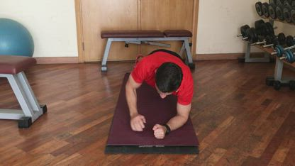 Plank to Push Up Position