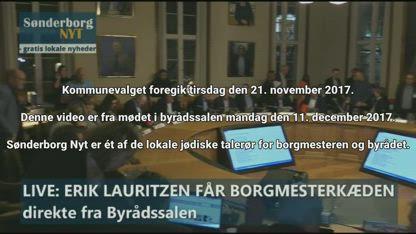 Gult Parti regerer i Sønderborg, 2017 (Danish text and speak)