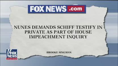Republicans demand Schiff testify in impeachment probe