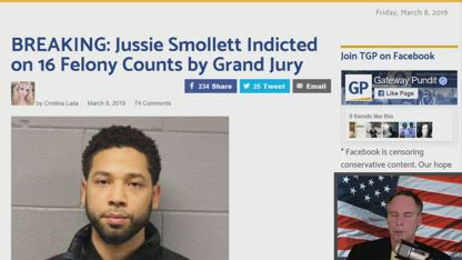 BREAKING: Jussie Smollett Indicted on 16 Felony Counts by Grand Jury
