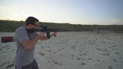 Shooting A Suppressed M4 Carbine