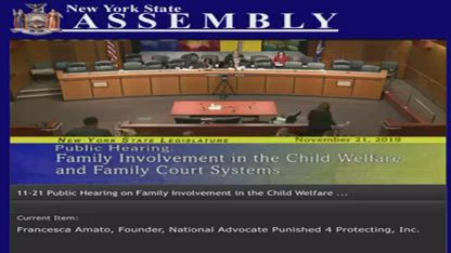 NEW YORK ASSEMBLY DEMANDING THE FAMILY COURT & CPS IS ABOLISHED & ARRESTED! NOW