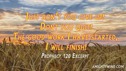 Just dont you give up dont you quit