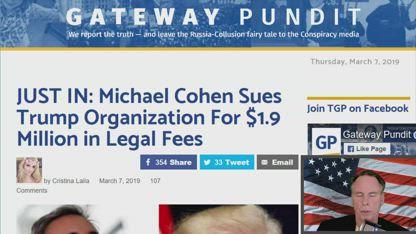 Michael Cohen Sues Trump Organization For $1.9 Million in Legal Fees