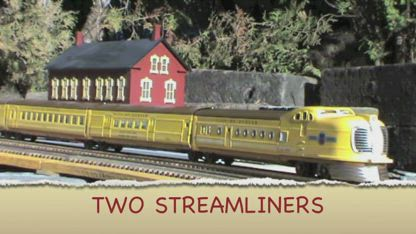 TWO STREAMLINED TRAINS 1m01s