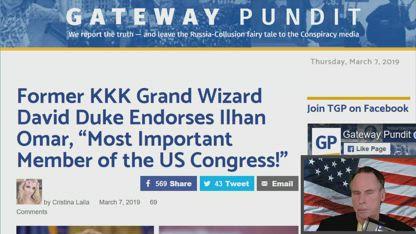 "Former KKK Grand Wizard David Duke Endorses Ilhan Omar, ""Most Important Member of the US Congress!"""