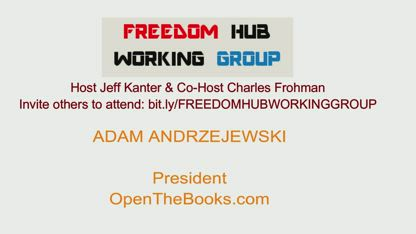 Freedom Hub Working Group - Adam Andrzejewski - Open The Books