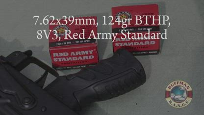 7.62x39mm, 124gr BTHP, 8V3, Red Army Standard (#AM2801) Review