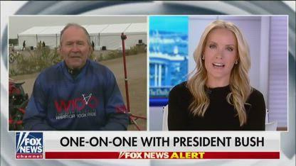 President George W. Bush goes one-on-one with Dana Perino