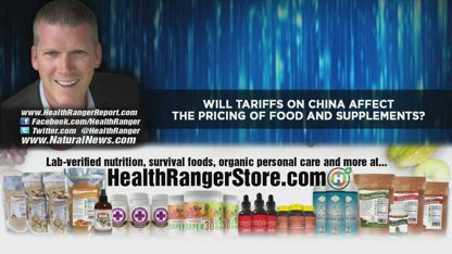 Will TARIFFS on China affect the pricing of FOOD and supplements?