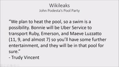 John Podesta Pool Party WikiLeaks Email