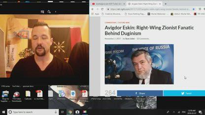 Alt-Right Tankie: 3/7/19- re:Avigdor Eskin Right-Wing Zionist Fanatic Behind Duginism