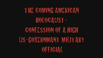 THE COMING AMERICAN HOLOCAUST