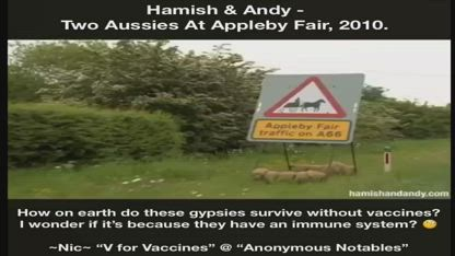 Hamish & Andy - Two Aussies At Appleby Fair, 2010. How Do These Gypsies Survive Without Vaccines?