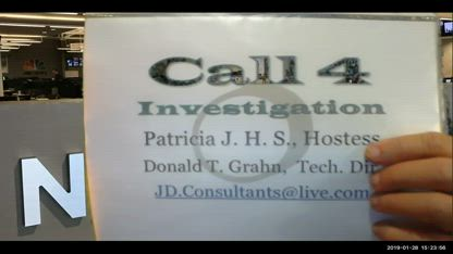 C4I = Call 4 Investigation,  Jan. 28, New World Order, Patricia, Kathy, and Don,