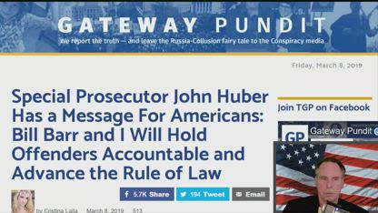 Special Prosecutor John Huber Has a Message For Americans: Bill Barr and I Will Hold Offenders Accountable and Advance the Rule of Law