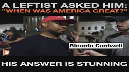 When was America great?