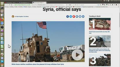 US troops begin to withdraw from Syria