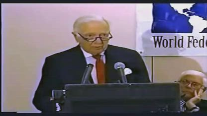 """Walter Cronkite - """"Glad to sit at the right hand of Satan."""""""