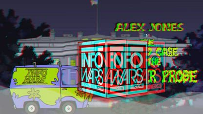 Alex Jones in The Crooked Case of the Mueller Probe - RED CYAN ANAGLYPH 3D