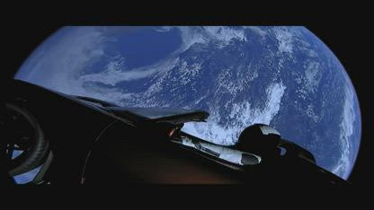 (THROWBACK) space x star man exposed. tesla in space hoax