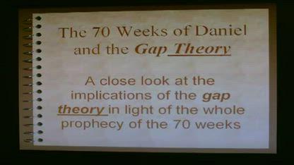 Daniel's 70 week prophecy part one