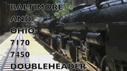 BALTIMORE AND OHIO DOUBLEHEADER 7170 7450