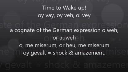 SHOCK & AMAZEMENT   WAKE UP!   (a POSEIDON vital video)