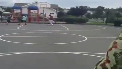 African Dad Playing Basketball Vine full clip