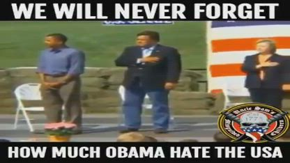 Obama Doesn't Put Hand Over Heart
