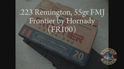 223 Remington, 55gr FMJ Frontier by Hornady (FR100) Review