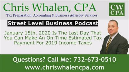 Podcast – January 15th, 2020 Is The Last Day That You Can Make An On-Time Estimated Tax Payment For 2019 Income Taxes
