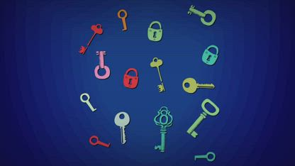 How lock and key combination works