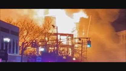 Breaking: There is a Massive four alarm fire in Bound Brook New Jersey!!