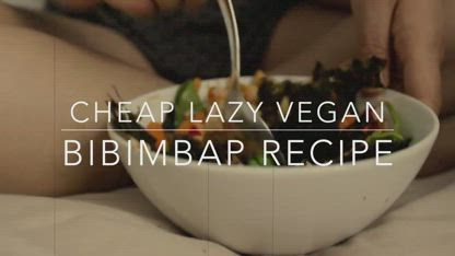 Bibimbap Recipe (Cheap Lazy Vegan style)