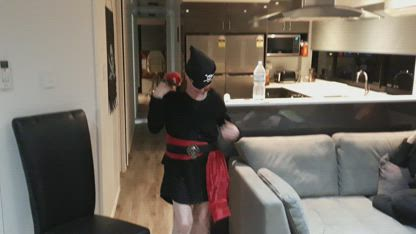Mum and Mark Pirate Costume Reveals