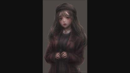 Painting process - 빵 모자 소녀 포토샵 스피드페인팅