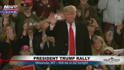MAGA Rally - President Trump in Missoula, MT Night Before AZ Rally