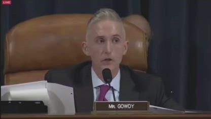 Trey Gowdy vs Hillary Clinton
