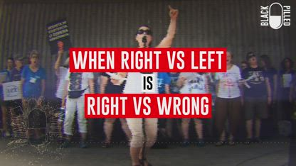 Right vs Left is Right vs Wrong