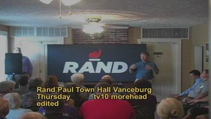 Rand Paul Town Hall Vanceburg Ky WAR ON COAL TV 10 Public Affairs