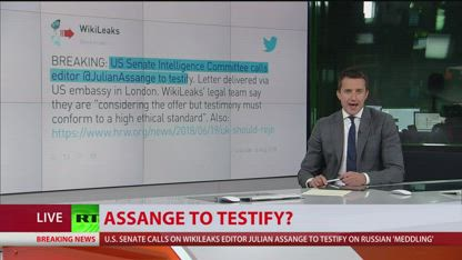 US Senate Intelligence Committee has requested WikiLeaks Julian Assange testify before committee