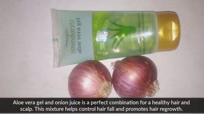 Aloe vera and Onion Juice for Hair Growth