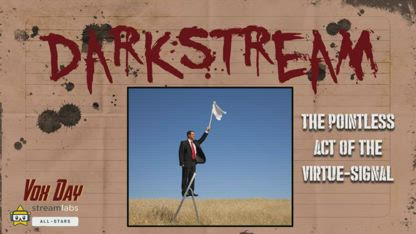 DARKSTREAM: The Pointless Act of the Virtue-Signal      / MIRROR Vox Day