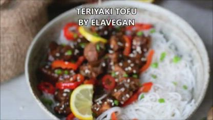 Sticky Teriyaki Tofu With Sweet And Sour Sauce (Vegan Recipe)