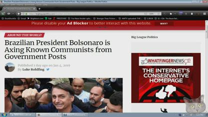 Brazilian President Bolsonaro Axing Known Communists from Government Posts