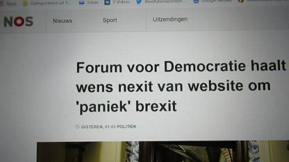 Forum for Democracy removes wish for Nexit from it's website