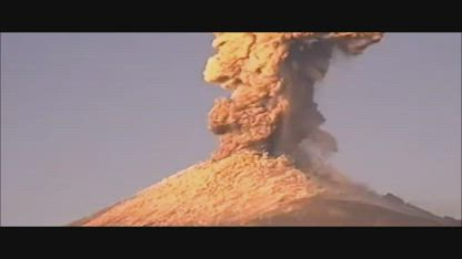 Breaking: 2 Very Powerful Eruptions from the Popocatepetl Volcano in Mexico!!