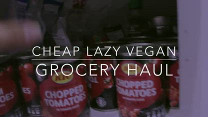 HEALTHY GROCERY HAUL (Vegan + Cheap)  Cheap Lazy Vegan